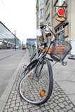 Berlin street. With abandoned bicycle Stock Photo