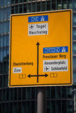 Berlin street sign mitte Royalty Free Stock Photography