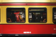 Berlin Suburban Train abstrakt begrepp Arkivfoton