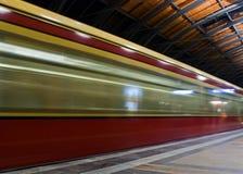 Berlin Subway in der Bewegung Stockfotos