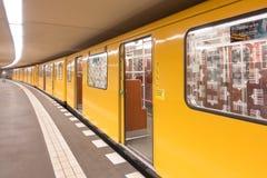 Berlin subway with open doors Stock Image