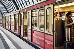 Berlin subway station Royalty Free Stock Photos