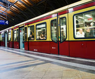 Berlin Subway train royalty free stock photography
