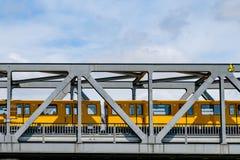 Free Berlin Subway Train U-Bahn Crossing Bridge In Berlin Stock Image - 94557151