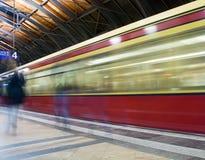 Berlin Subway-trein Stock Afbeelding