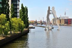 Berlin in summer at the river Stock Photography