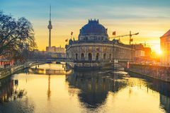 Berlin at sunrise Stock Photography