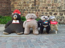 Berlin Teddy Bears arkivbild