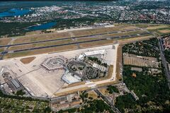 Free Berlin Tegel `Otto Lilienthal` Airport. EDDT / TXL - Aerial View During Coronavirus Lockdown. Royalty Free Stock Photography - 187207647