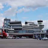 The Berlin Tegel Otto Lilienthal airport (TXL) in Berlin, Germany Royalty Free Stock Photos