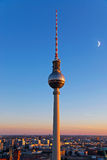 Berlin television tower Royalty Free Stock Photo