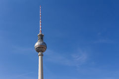 Berlin television tower at Alexanderplatz Stock Image