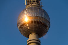 Berlin television tower (Fernsehturm),. Tv tower Royalty Free Stock Image