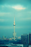 Berlin television tower skyline Stock Images