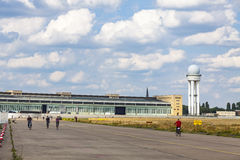 Berlin Tempelhof Airport, ancien aéroport de Berlin, Allemagne Images stock