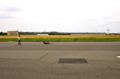 Berlin Tempelhof Airport historique Photo stock