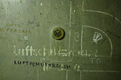 Berlin Tempelhof Airport historique : Porte de soute de raid aérien Photo stock