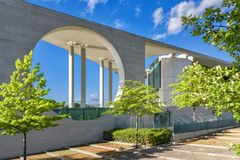 Berlin 6th july 2018 view of the building of the residence of the Bundes Kanzlerambt, also known as the washing machine Royalty Free Stock Photography