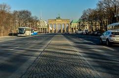 Berlin Tiergarten with Brandenburg Gate Stock Images
