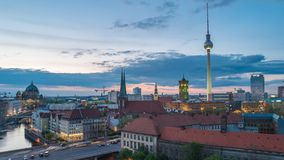 Berlin Time Lapse stock footage