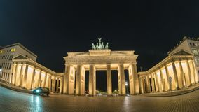 Berlin  Time Lapse. Berlin city skyline night motion timelapse Hyperlapse at Brandenburg Gate Brandenburger Tor, Berlin, Germany, 4K Time lapse stock video footage