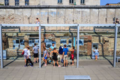 Berlin Topography of Terror. Topography of Terror in Berlin, Germany. This outdoor museum, built on the ruins of the Nazi SS and Gestapo headquarters, provides royalty free stock image