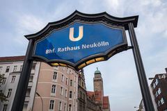 Berlin townhall new cologne sign Royalty Free Stock Photography
