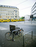 Berlin traffric. Berlin Mitte street in the morning, with bicycle Royalty Free Stock Photography