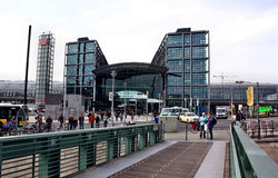 Berlin train main station (Hauptbahnhof). Berlin, Germany - May 18, 2015: Berlin train main station (Hauptbahnhof Stock Photo