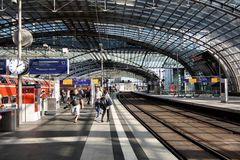 Berlin train station Stock Photo