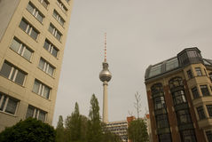 Berlin TV Tower. Landmark of Berlin - TV Tower Royalty Free Stock Images
