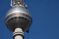 Berlin TV Tower. Closeup of the observation deck of the Berlin TV tower stock photography