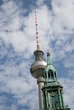 Berlin Tv tower Stock Photo