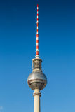 Berlin TV tower against blue sky, Germany Stock Image