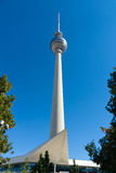 Berlin TV tower on a background of blue sky Royalty Free Stock Photography