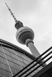Berlin tv tower in black and white Stock Photography