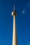 Berlin TV Tower In a Deep Blue Sky-Berlin, Germany Royalty Free Stock Image