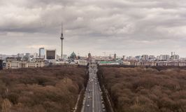 Berlin skyline panorama with TV tower, Germany royalty free stock photo