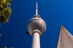 Berlin TV Tower. The famous TV tower of Berlin Stock Photo