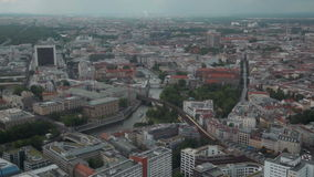 Berlin from TV tower stock video