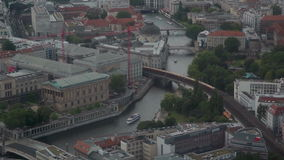 Berlin from TV tower stock footage