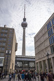Berlin TV Tower (Fernsehturm) on the Alexanderplatz Royalty Free Stock Image