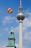 Berlin tv tower -  fernsehturm. In Berlin Germany Royalty Free Stock Photos