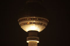 Berlin TV tower by night Royalty Free Stock Image