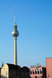 Berlin. The TV tower in Berlin and the popular department store Alexa royalty free stock photo