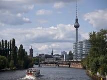 Berlin TV Tower-Spree Stock Image