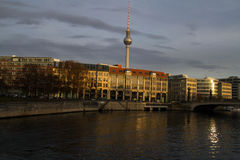 Berlin. The TV tower. royalty free stock photo