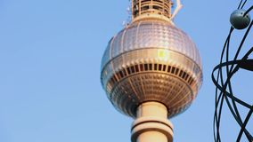 Berlin TV Tower for titeling stock video footage