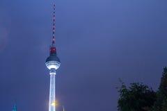 Berlin TV wierza Obrazy Royalty Free