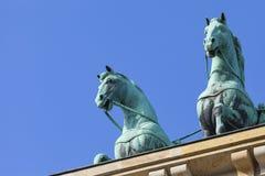 BERLIN TYSKLAND - APRIL 11, 2014: Quadrigaen Royaltyfri Foto